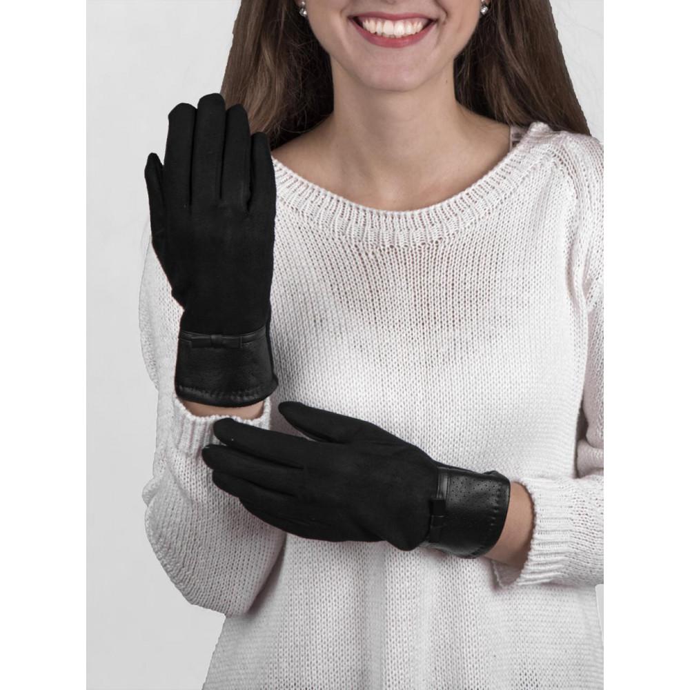 Мягкие перчатки с декором фото 1