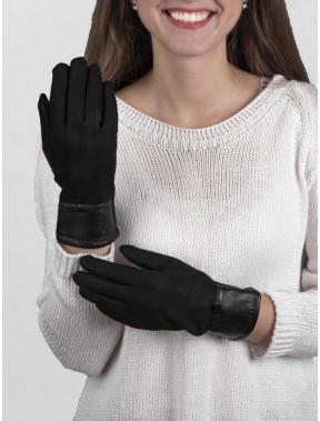 Мягкие перчатки с декором