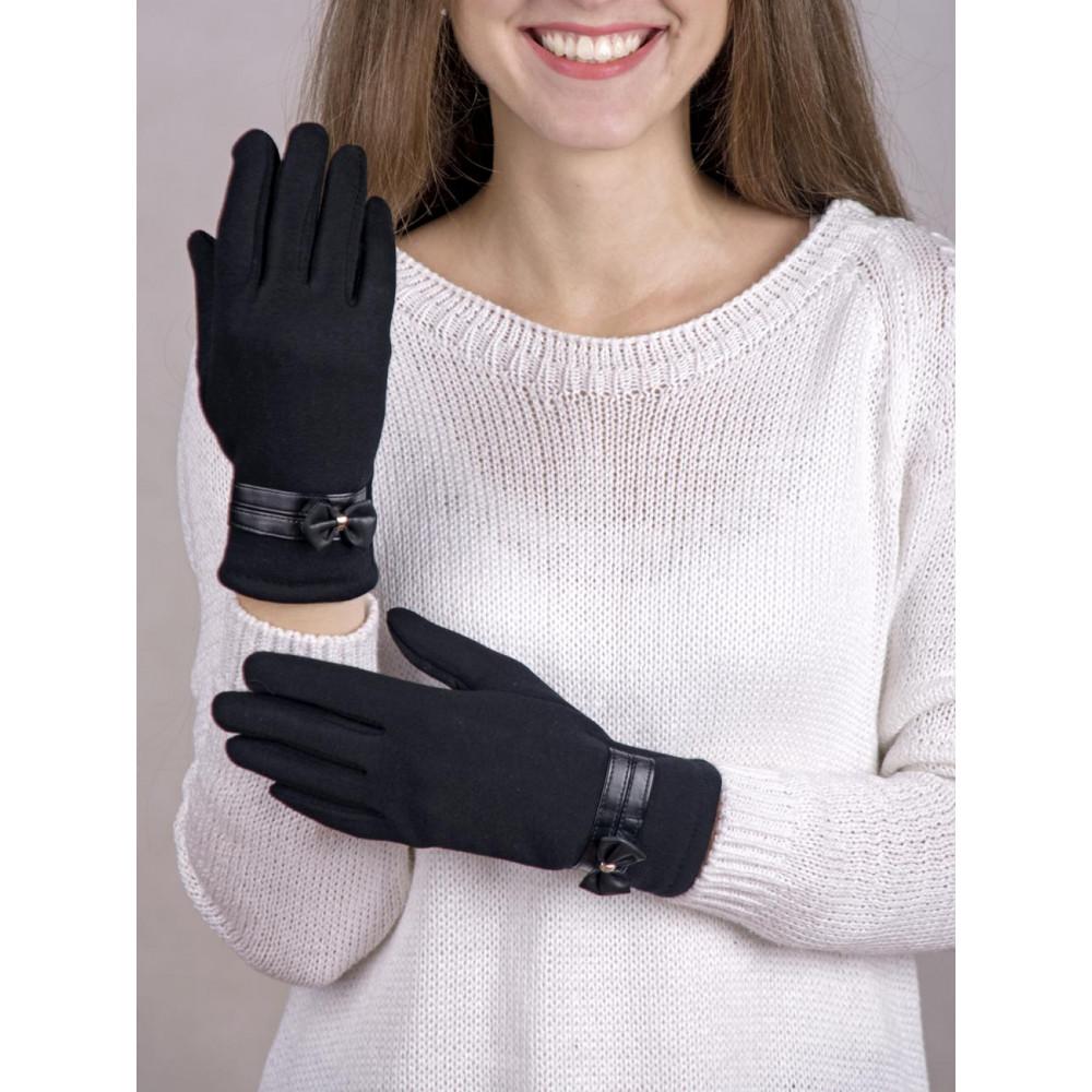 Классические женские перчатки с бантиком фото 1