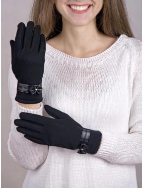 Классические женские перчатки с бантиком