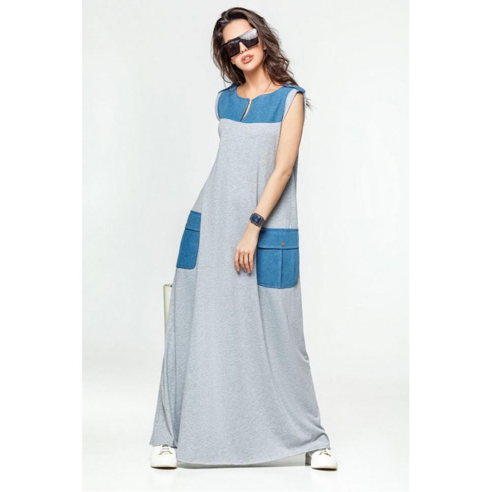 Модное платье-макси Джерси фото 1