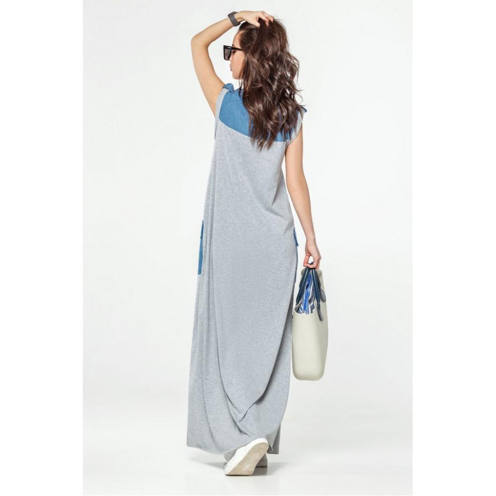 Модное платье-макси Джерси фото 2