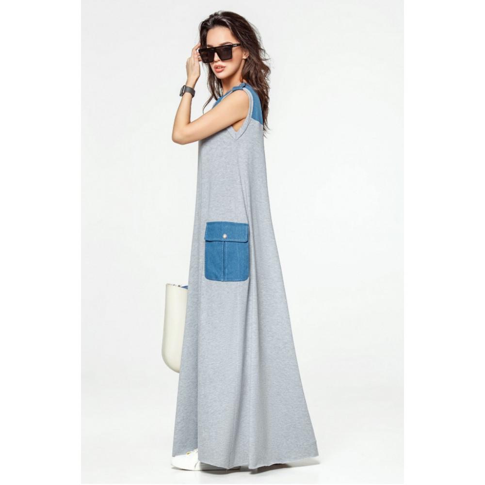 Модное платье-макси Джерси фото 3