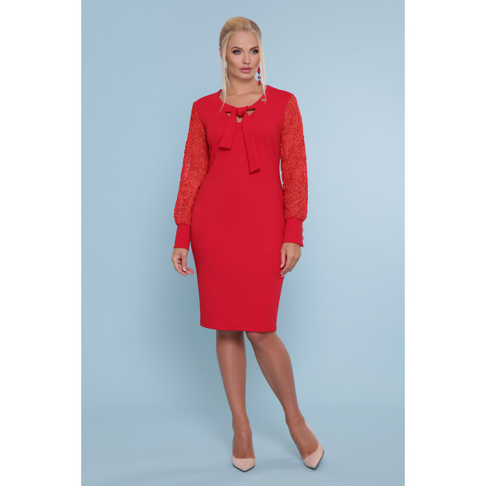 Красивое красное платье Нелли фото 1