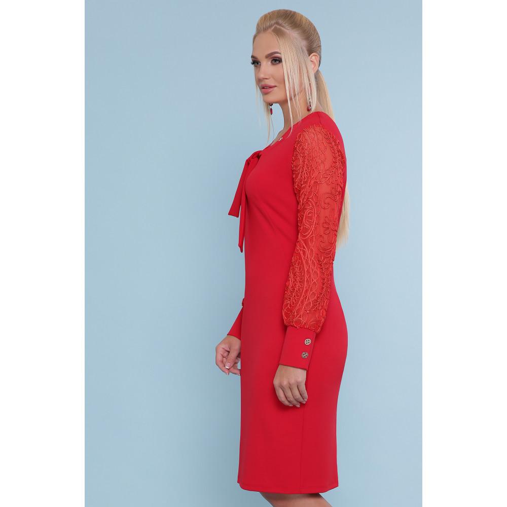 Красивое красное платье Нелли фото 2