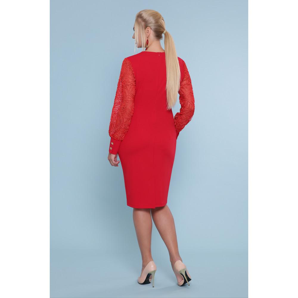 Красивое красное платье Нелли фото 3