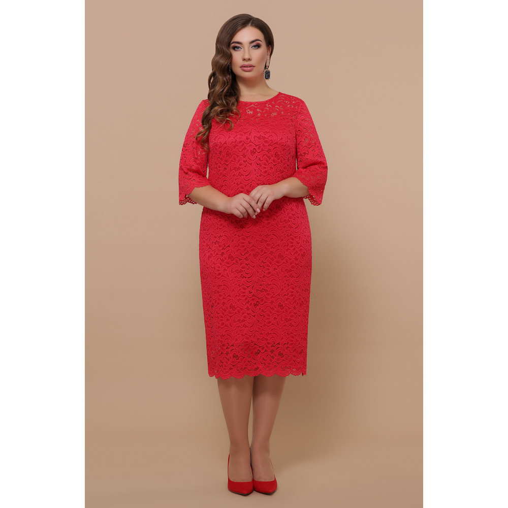 Кружевное яркое платье Сания фото 1