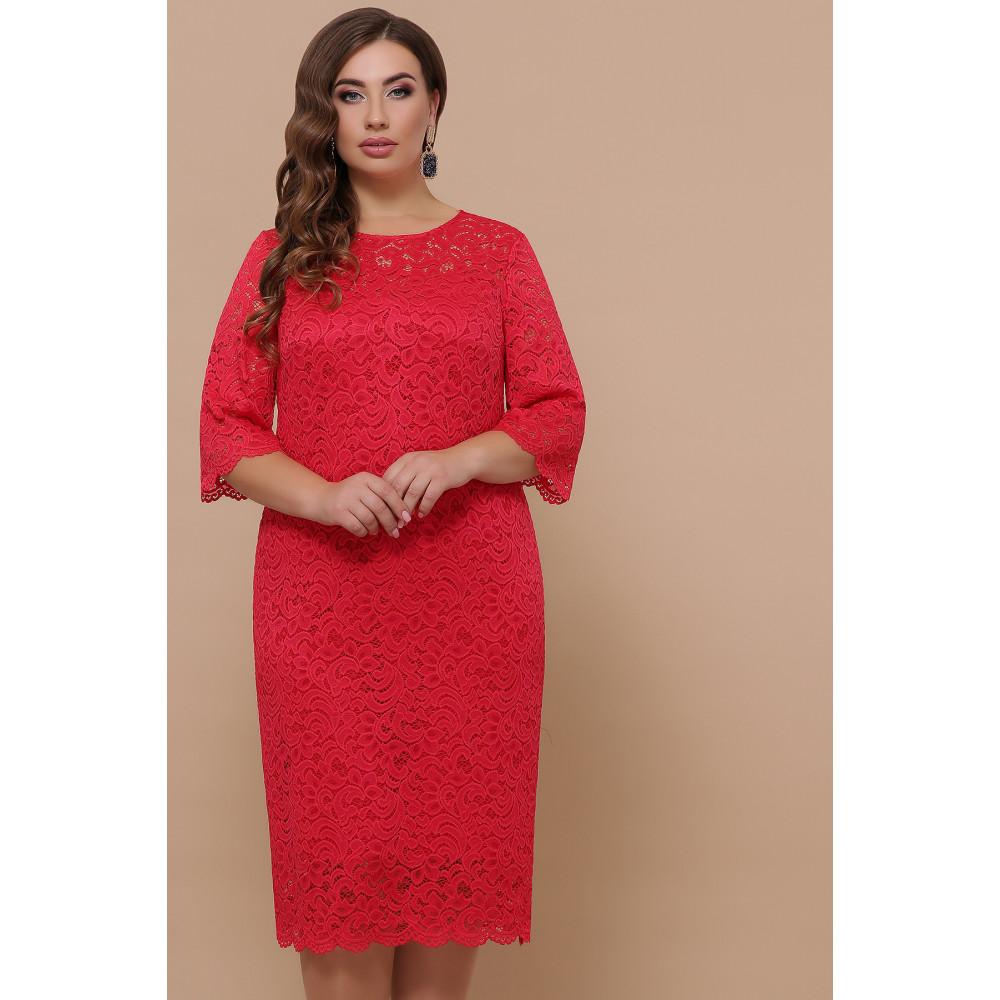 Кружевное яркое платье Сания фото 2