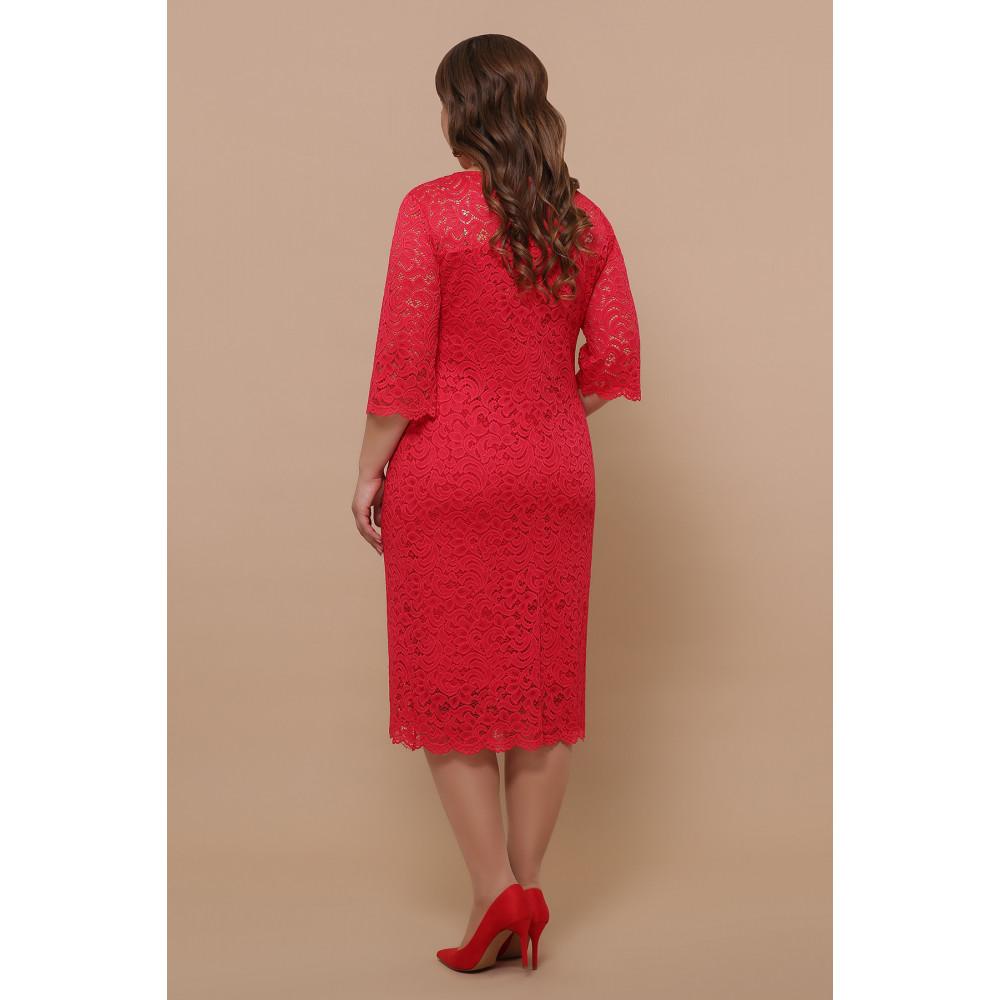 Кружевное яркое платье Сания фото 4