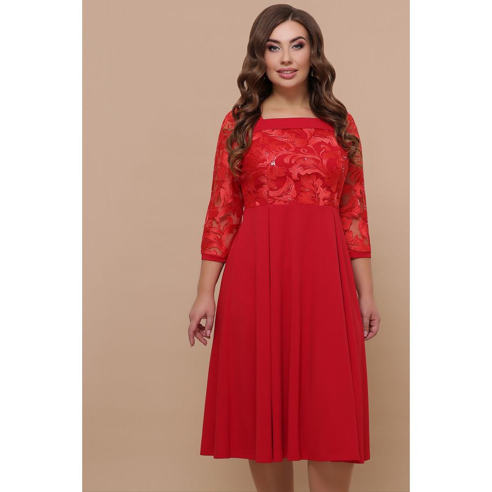 Алое нарядное платье Тиффани фото 1