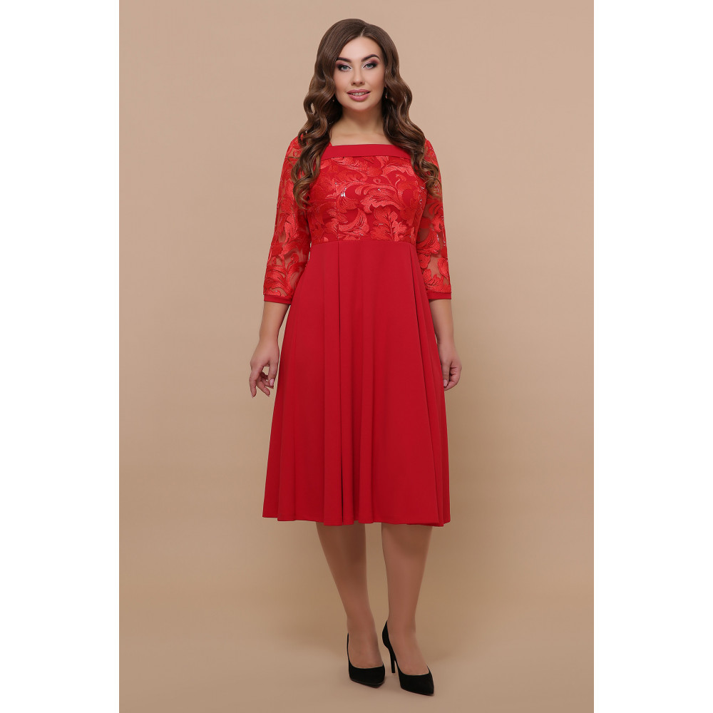 Алое нарядное платье Тиффани фото 2