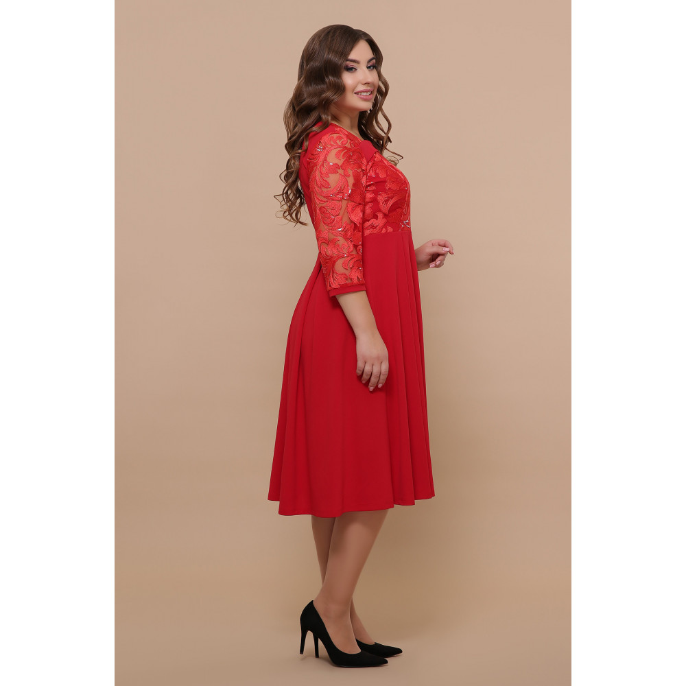 Алое нарядное платье Тиффани фото 3