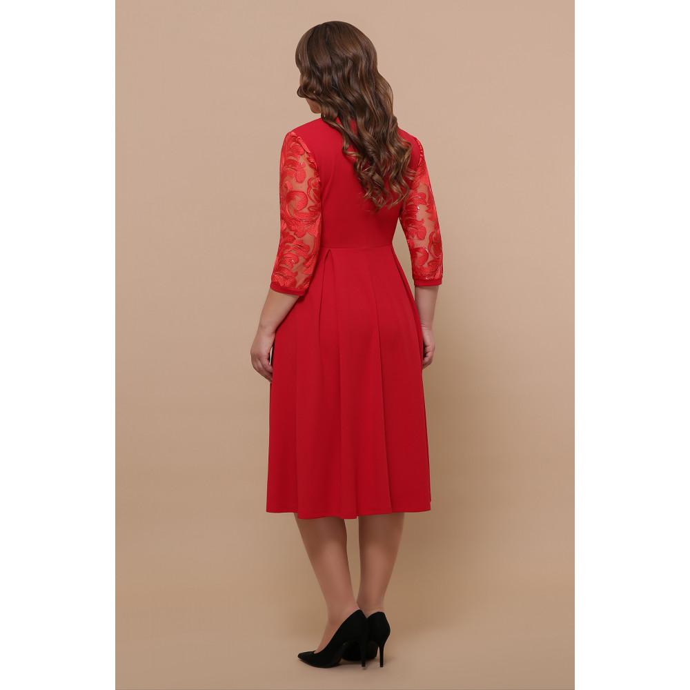 Алое нарядное платье Тиффани фото 4