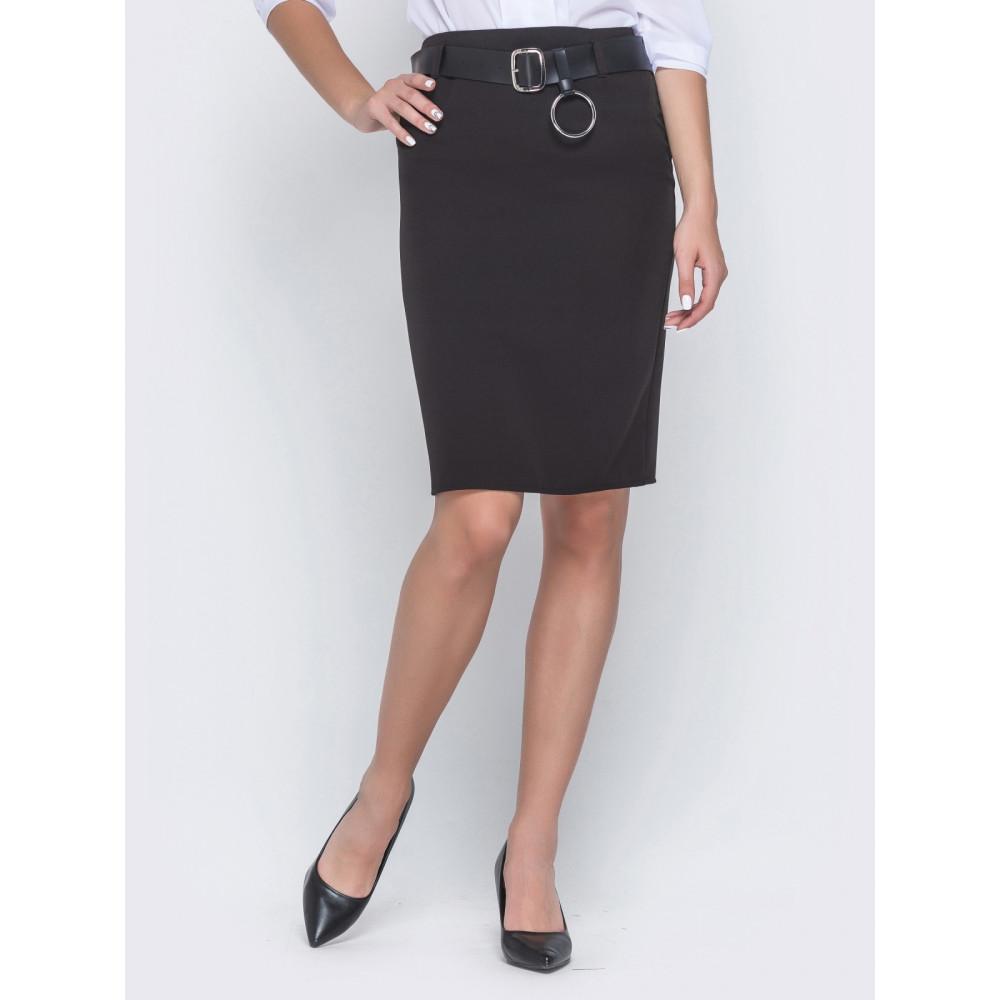 Классическая черная юбка-карандаш фото 1