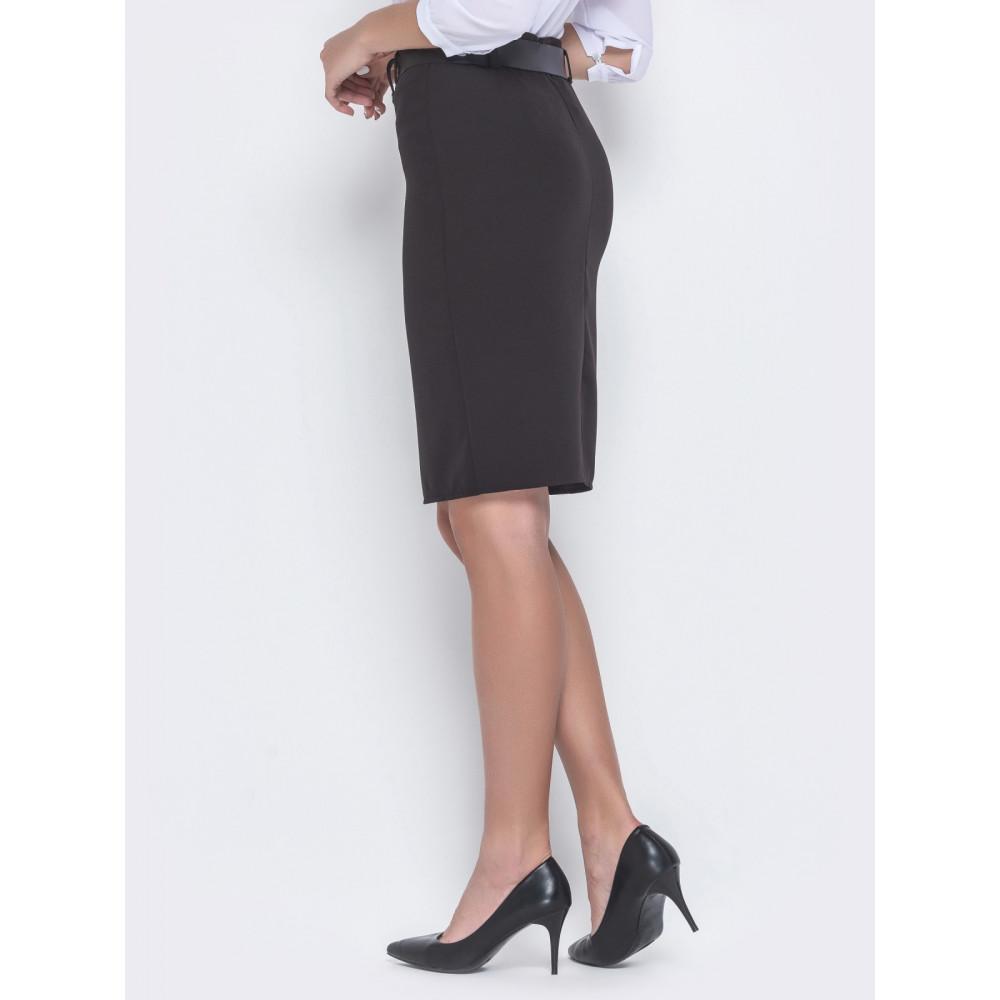 Классическая черная юбка-карандаш фото 2