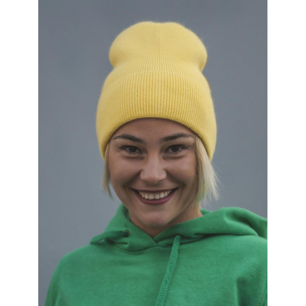 Желтая шапка-лопата Арни  фото 1