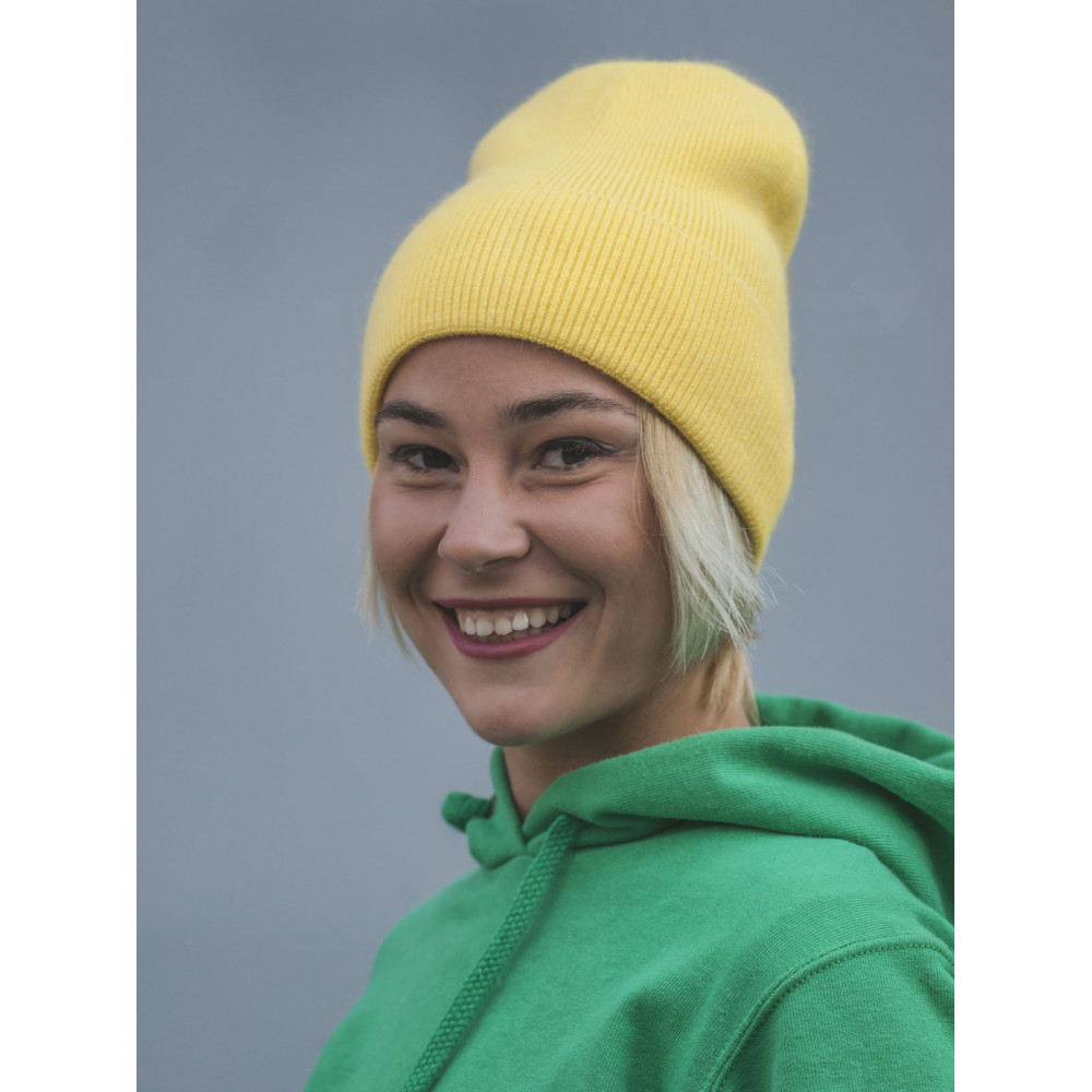 Желтая шапка-лопата Арни  фото 2