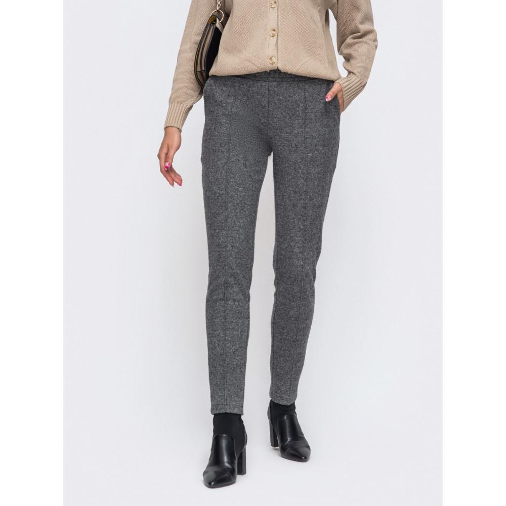 Зауженные брюки из жаккарда фото 1