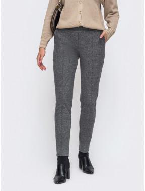 Зауженные брюки из жаккарда