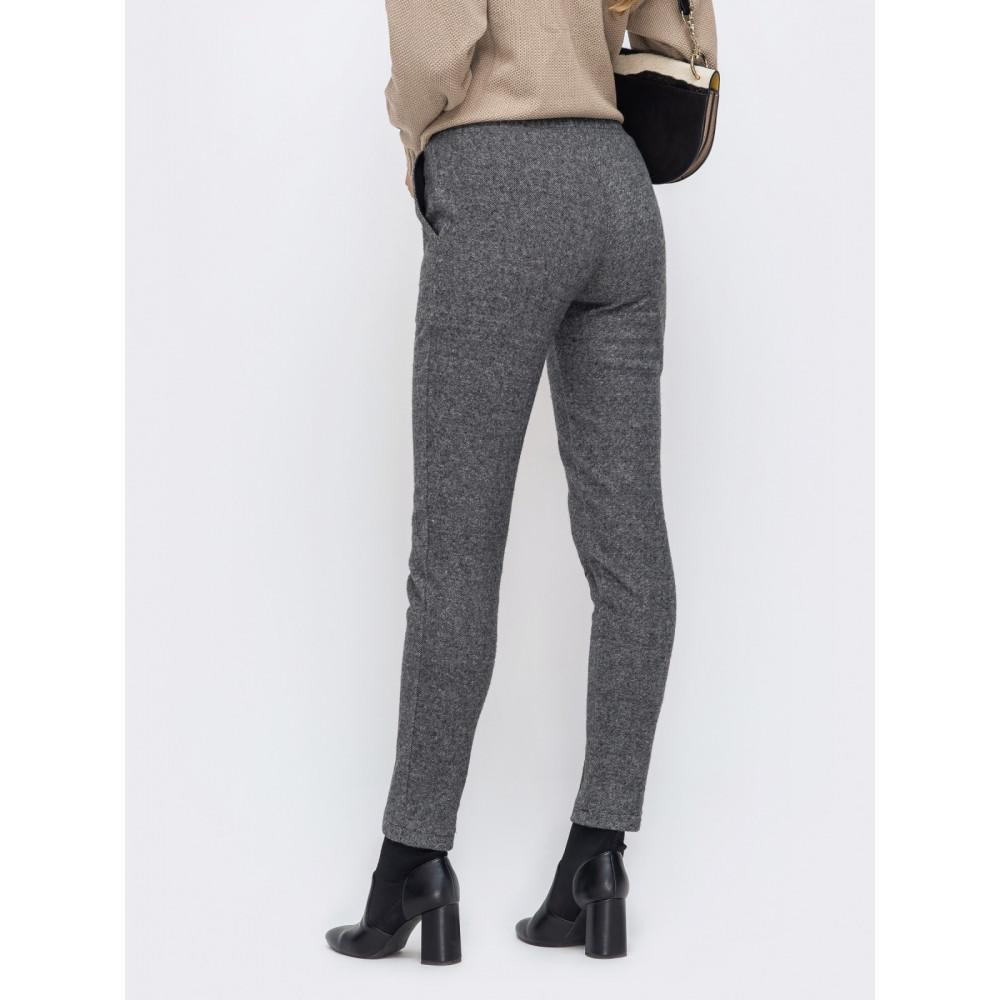 Зауженные брюки из жаккарда фото 2