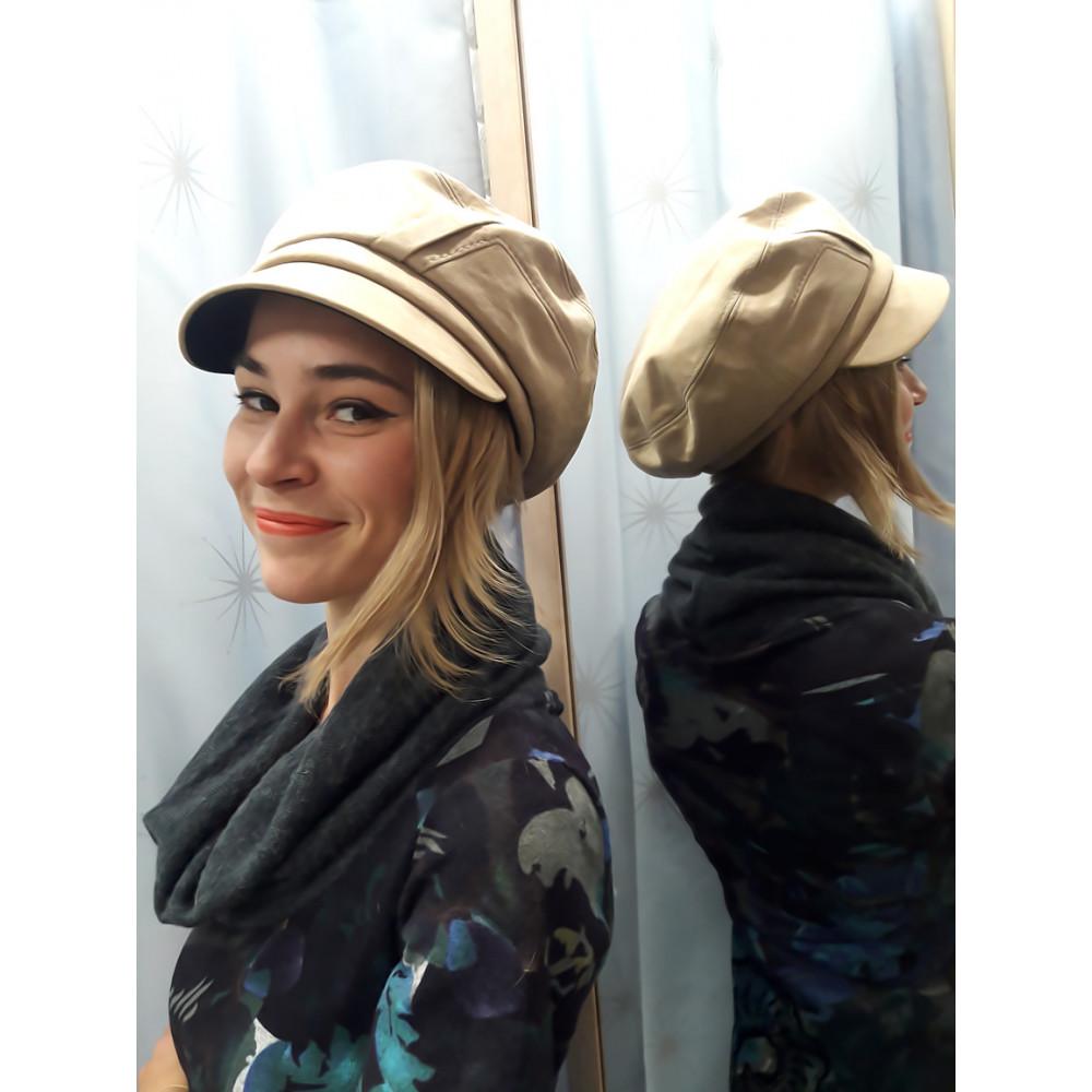 Бежевая женская кепка Грация фото 1