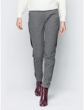 Теплые женские брюки в гусиную лапку