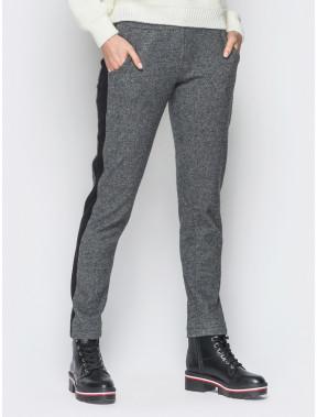 Теплые женские брюки с лампасами