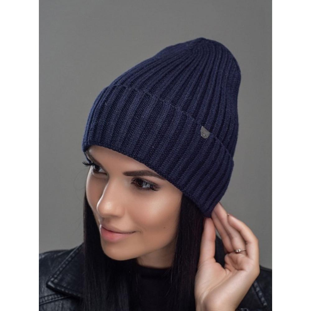 Женская вязаная шапка Мадера фото 1