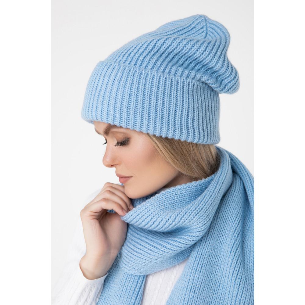 Зимняя голубая шапка Дебора фото 2