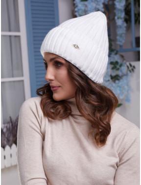 Белоснежная женская шапка Лаура