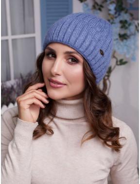Молодежная вязаная шапка Лаура с флисом