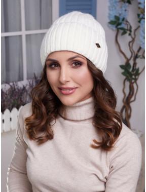 Молочная шапка на флисе Лаура