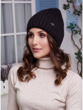 Черная вязаная шапка Лаура