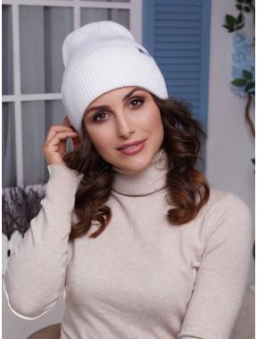 Молодежная белая шапка Элис