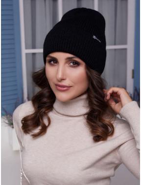 Черная молодежная шапка Элис