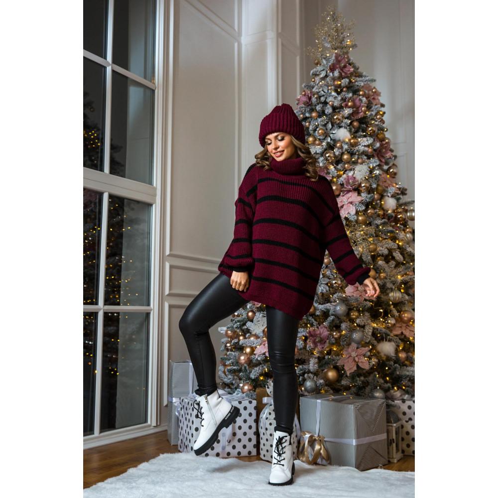 Бордовый свитер Табби фото 1