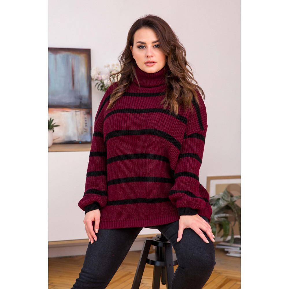 Бордовый свитер Табби фото 2
