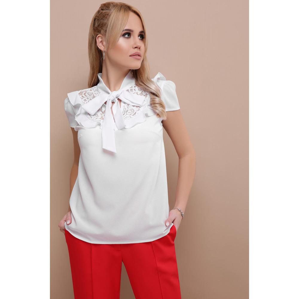 Белая блузка с ажурной кокеткой Федерика фото 3