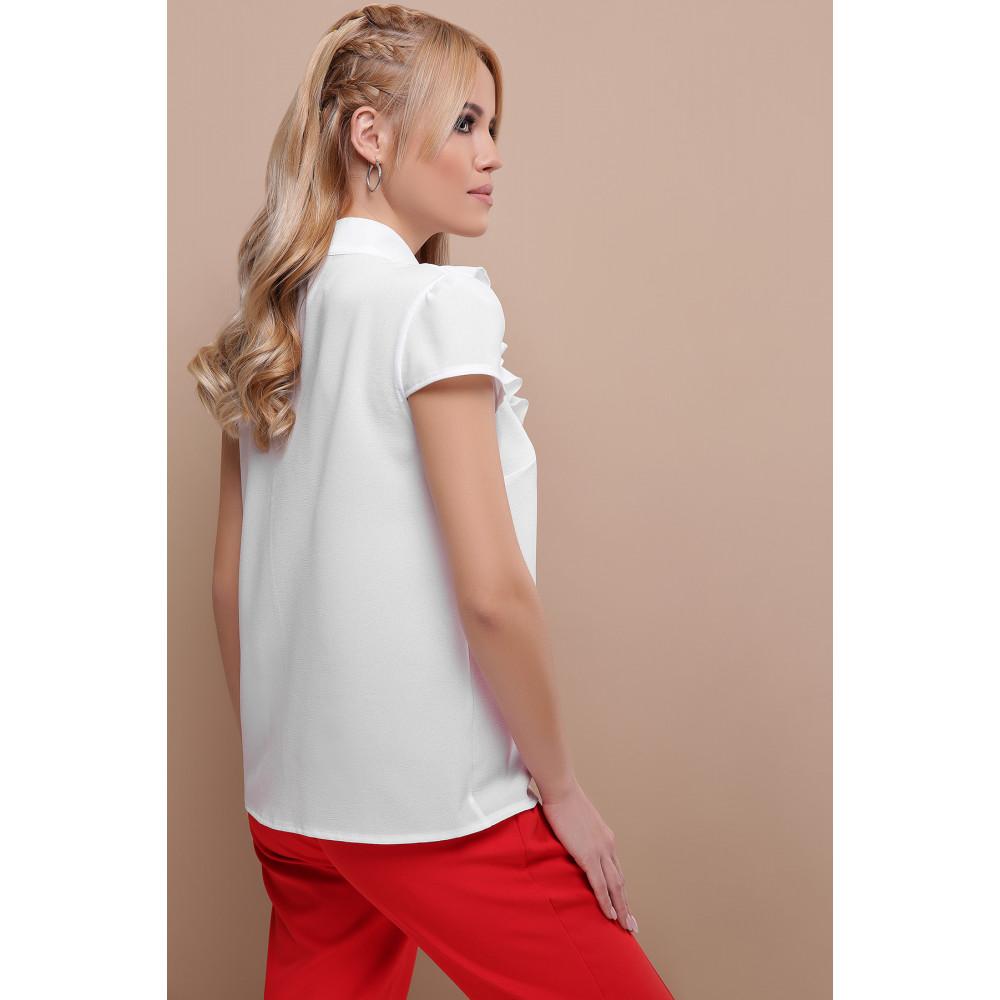 Белая блузка с ажурной кокеткой Федерика фото 2