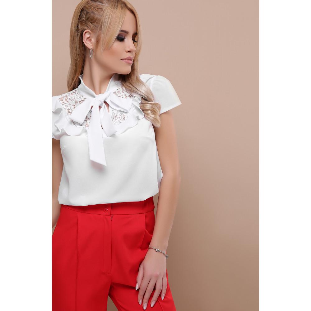 Белая блузка с ажурной кокеткой Федерика фото 5