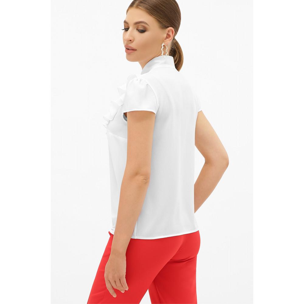 Белая блузка с ажурной кокеткой Федерика фото 6