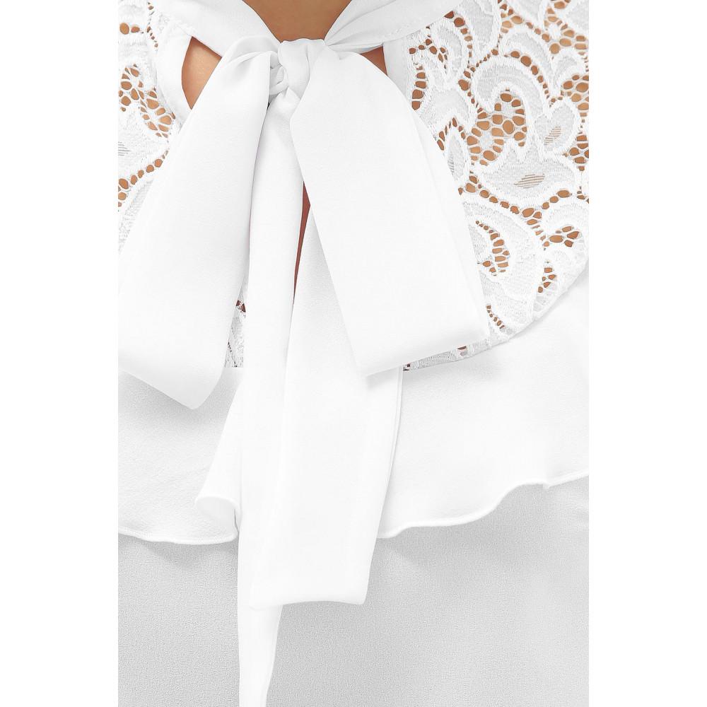 Белая блузка с ажурной кокеткой Федерика фото 8