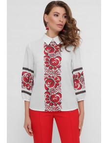 Чудесная белая блуза в этно-стиле