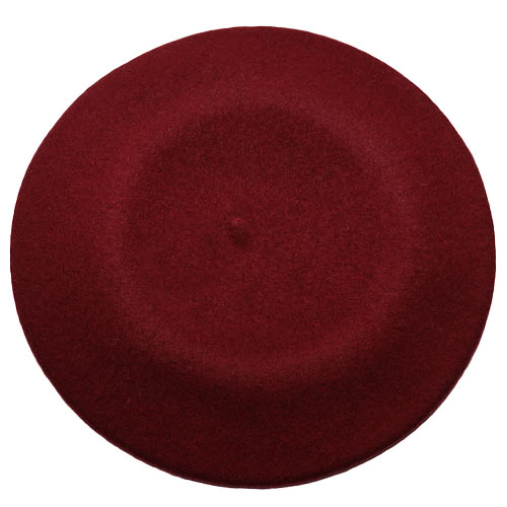 Бордовый шерстяной берет Флора-144 фото 2