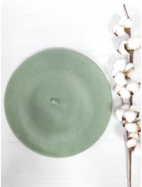 Лаконичный шерстяной берет Флора-306