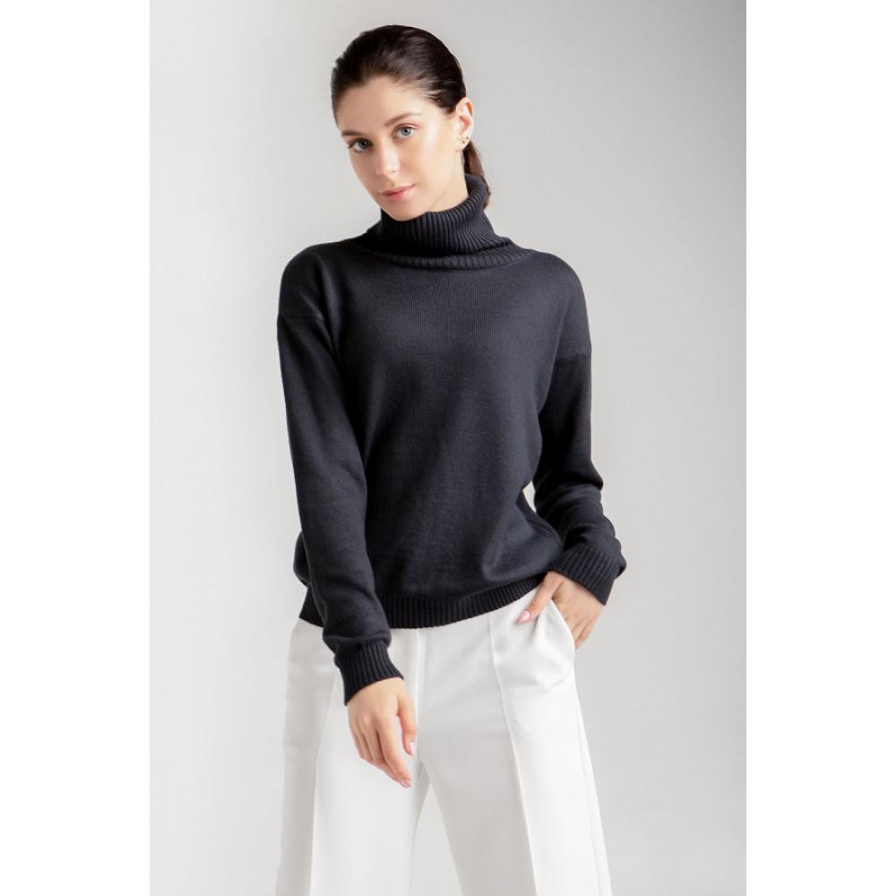 Базовый свитер с качественной пряжи фото 1