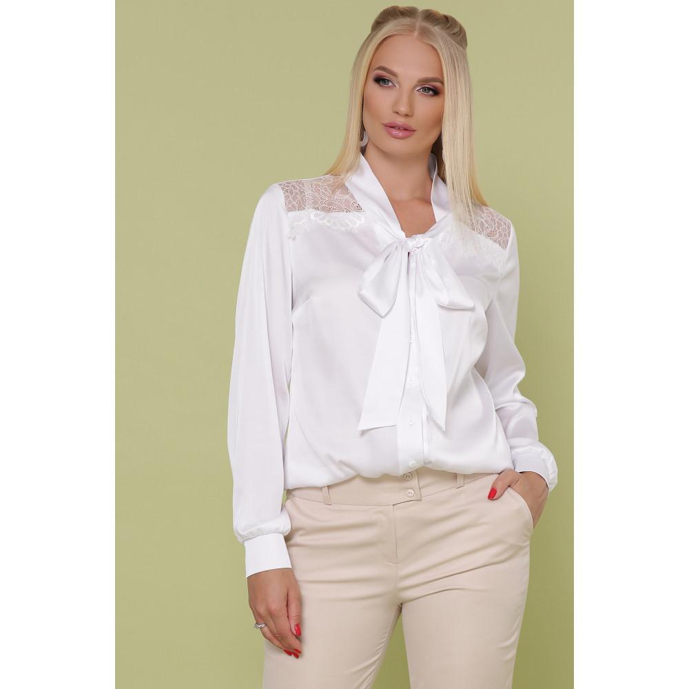 Белоснежная блузка с бантом Роксана фото 1