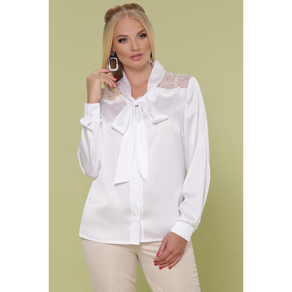 Белоснежная блузка с бантом Роксана фото 2