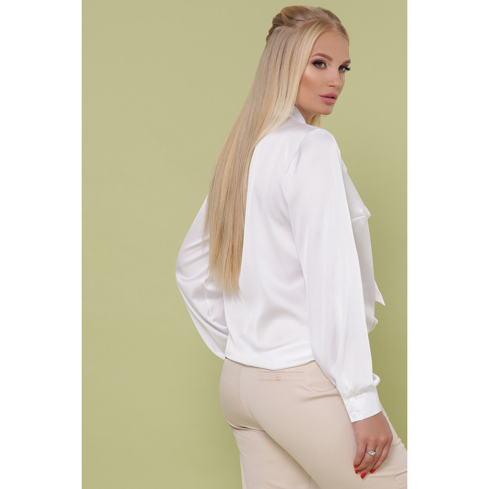 Белоснежная блузка с бантом Роксана фото 3
