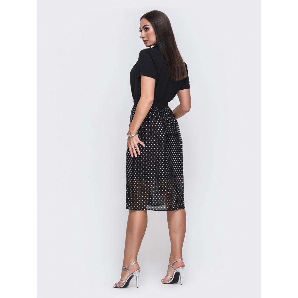 Интересное платье с юбкой из шифона фото 2